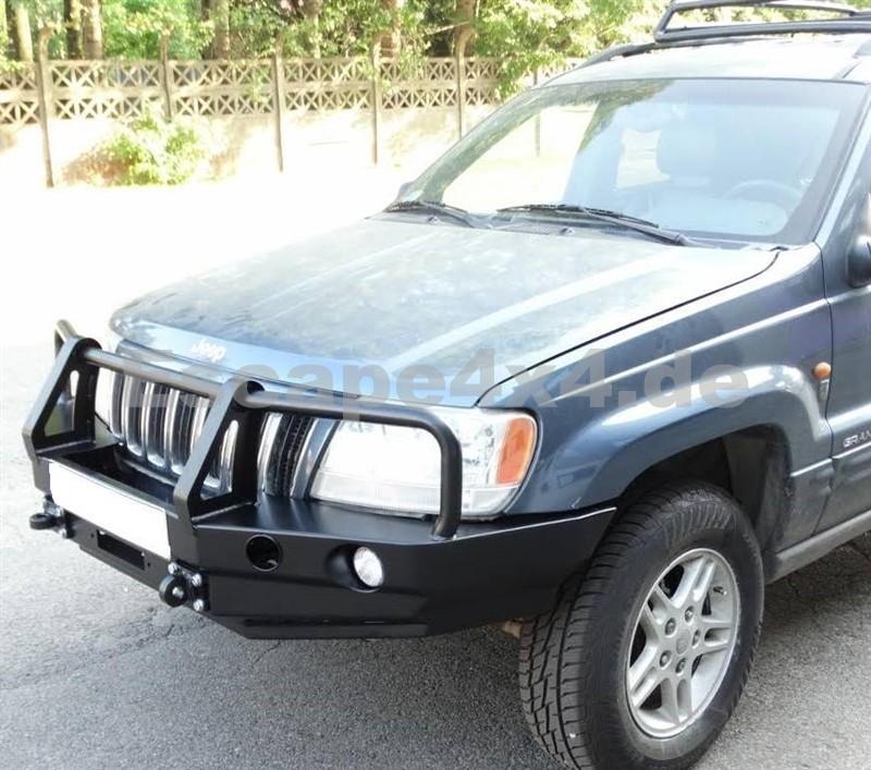 hd seilwindensto stange vorne jeep grand cherokee wj 1999 2004 mit rammschutz. Black Bedroom Furniture Sets. Home Design Ideas